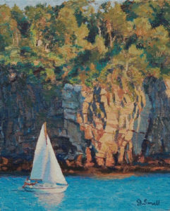 """Jonathan Small's """"Study of Whitehead Passage"""" Oil on canvas"""