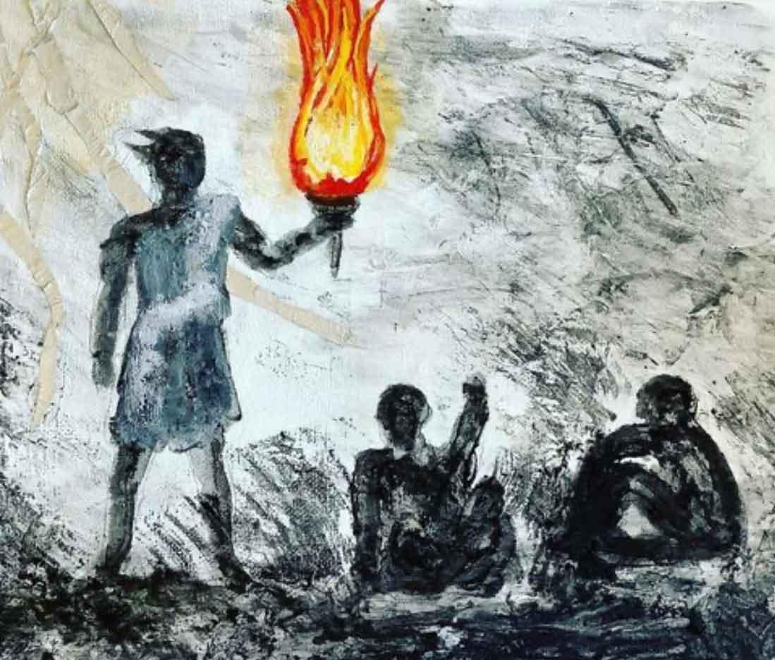 Sarah Oesting, Prometheus Bringing Fire to Man