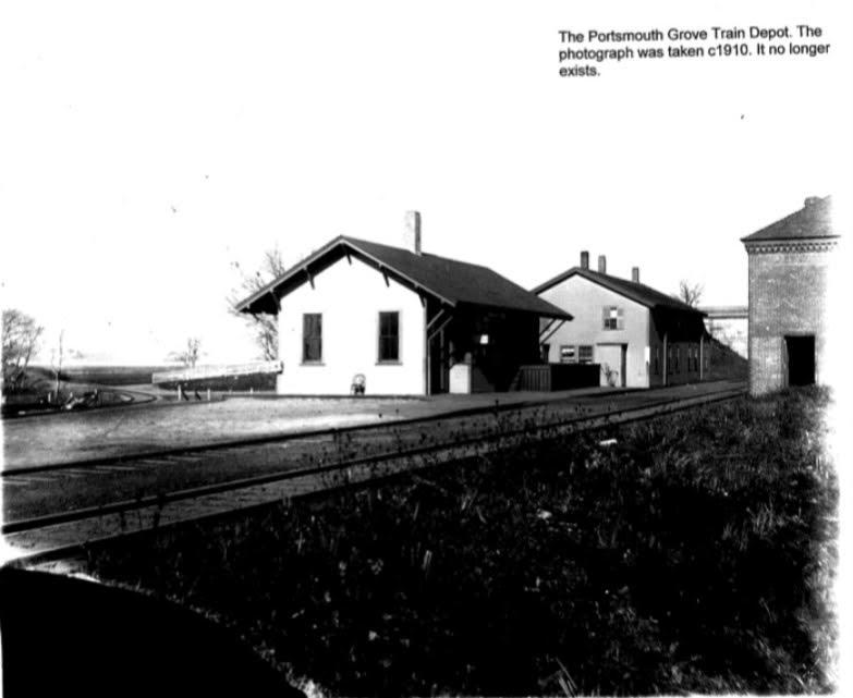 Train Depot Circa 1904, Portsmouth Historical Society