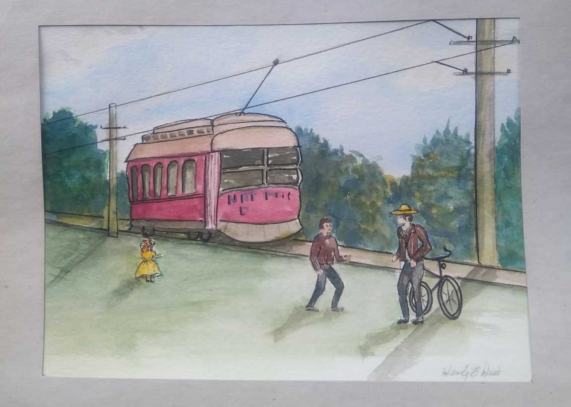 Wendy B. Davis, Trolley, Portsmouth Arts Guild