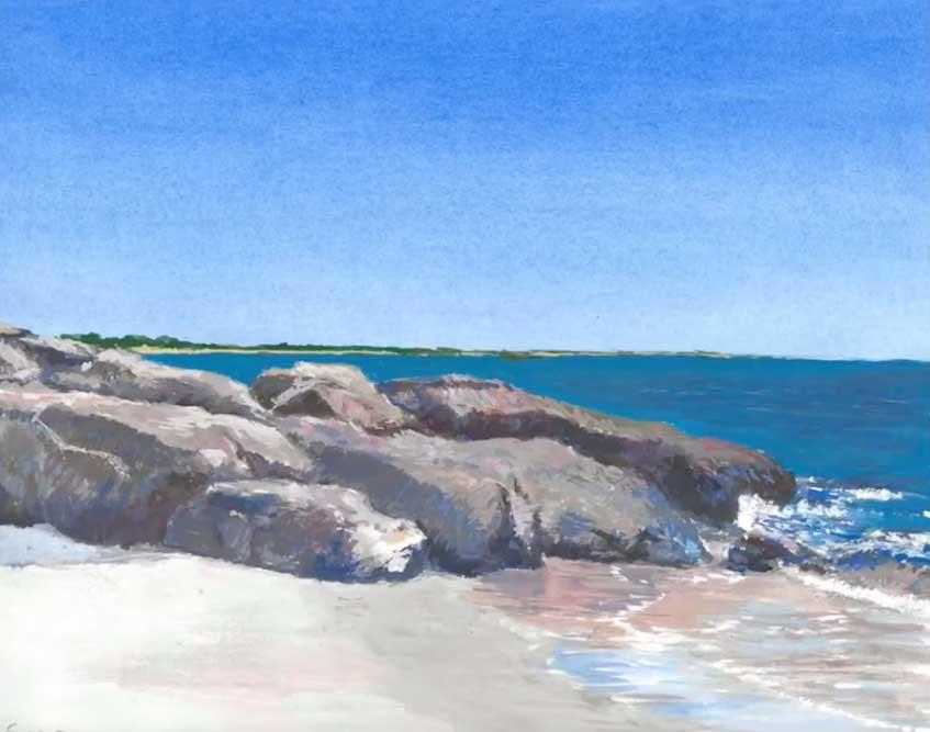Emidio Rebelo, Coast of Massachusetts, Portsmouth Arts Guild