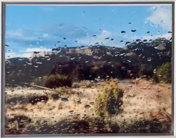 Jan Burling, Desert Rain, Portsmouth Arts Guild