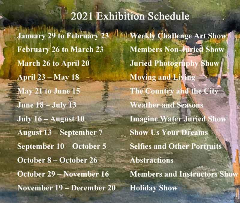 Exhibition Schedule, Portsmouth Arts Guild
